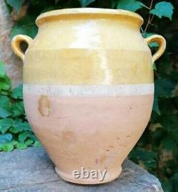 Confit Pot 2.455 KG Yellow Glaze Provencal Pottery To Glacier Yellow Xixth