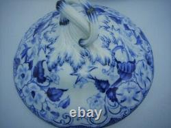 Creil Monterau Soupiere And His Presentation Decor Flora Blue And White