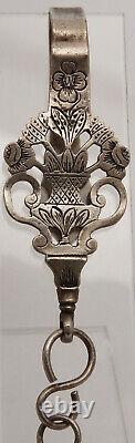 Crochet A Scissors Chatelaine Silver Minerve Orfevre Edmond Loze 19th Z263