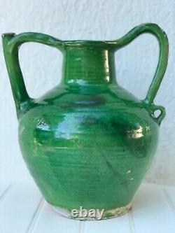 Cruche Orjol Pottery Saint Jean De Fos Early 19th Antique French Pottery