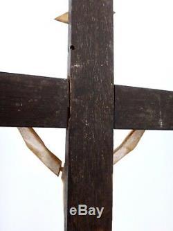 Crucifix Jansenite Wooden Christ Bone Eighteenth