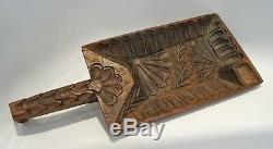 Curious Carved Wooden Object Of Folk Art