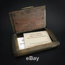 Dated 1791 Snuffbox Decorated Tools Blacksmith Eighteenth Snuffbox
