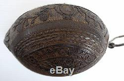 Demi-walnut Hunting Cup Engraved, Silver Mounted, Fine Engraving, Early Nineteenth