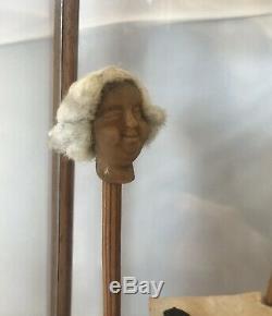 Diorama 18th Century Perruquier, Marotte, Wax. Wig Maker