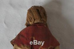 Doll Or Marotte Late 19 Eme Headboard Boiled Cardboard Body Fabric Popular Art P05