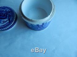 Ed Pinaud Blue & White Paris, Bears Grease Pot & Lids, English