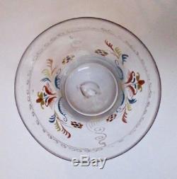 Enamelled Glass Goblet Norman 18th Century Antique Glass Folk Folk Art