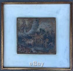 Ex Voto Epoque Eighteenth France Painting Folk Art Religion Vow Prayer