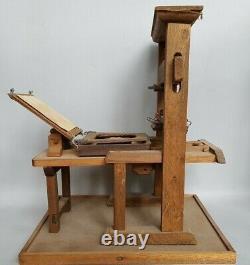 Exceptional Printing Press Miniature Chef D'oeuvre De Compagnon 1917