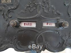 Exceptional Rare Calendar Perpetual Gutta Percha Period Nap III Door Watch