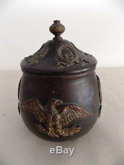 Exceptional & Rare Copper And Bronze Tobacco Box Napoleon III Aiglon