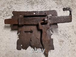 Exceptional Wrought Iron Lock 15th 16th High Period Popular Art