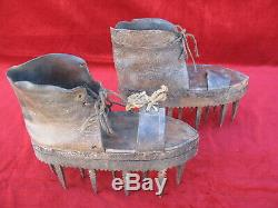 Few Shoes Chestnuts 19th / Sole / Folk Art / Cevennes Ardeche