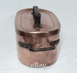 Fine Copper Daubière Hammered 8 Liters 18 Th