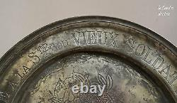 Flanders Flat Tin Dedicatory Society Of The Old Soldier Marquette Dated 1859