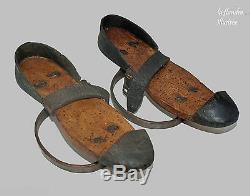 Flanders Very Rare Pair Of Mud Skates 19th For Women Hoof Sock