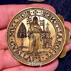 Flandres XVII Exceptional Matrix Of Seal Patronal Chapter Saint Pierre