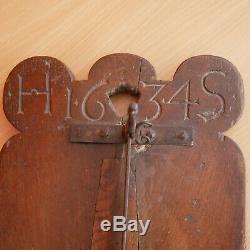 Folk Art Breadboard Bread Slicer Lever Alsace Dated 1634 Monogrammed