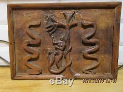 Folk Art Eve Panel Religious Art Wood