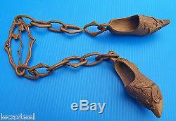 Folk Art Wooden Shoe String Prowess In Companion Sabotier