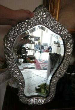 Former Ancient Massive Silver Mirror Embossed Ottoman Silver Mirror