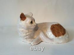 Former Big Cat Ceramic Glazed France Bavent -1900