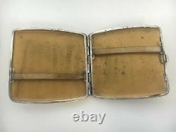 Former Cigarette Case Silver Massive Art Deco