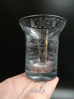 Former Glass Normand Patronymic Elie Date 1814 1814 Siècle Art Popular