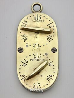 Former Golden Brass Oval Gibier Hunting Meter