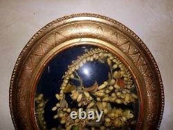 Former Oval Frame Bulging Glass Married Crown