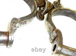 Former Pair Of Old Handcuffs With Key Old Antique Handcuffs Wich Key