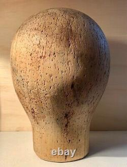 Former Shape A Hat Tete Wood Marotte Wooden Hat Maker Shape Block