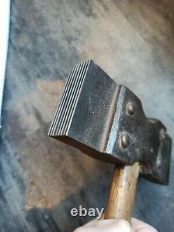 Former Stone Cutter Hammer Popular Art Craft Tool Metal Wood Rare