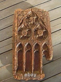 Fragment Panel Carved Wood Gothic Flamboyant High Era