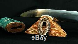 From Ancient Japanese Sword Tanto Hamidashi Type. Tamahagane Period Koto