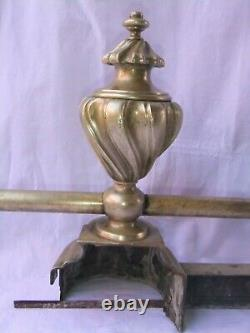 Fronture Fireplace XIX Bronze Chenet Accessory Trim Utensils 130 CM