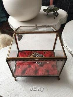 Gde Jewel Box Former Glass Beveled Nap III Antique Victorian Jewel Box