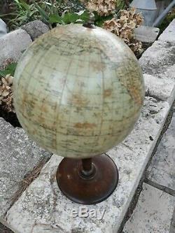 Globe Earth Glob Old Brand Jordglob Columbus-verlag Berlin Lichterfeld