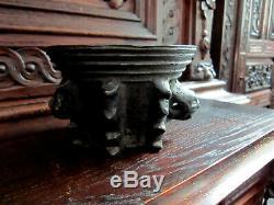 Gothic Mortar In Bronze. Haute Époque, Folk Art, Collection