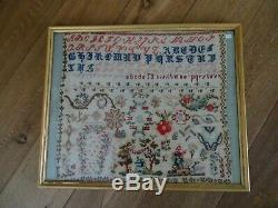 Grand Abedecaire Old Brode Haute Savoie 1980-1890 Large Size Folk Art