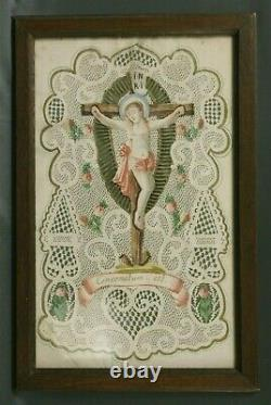 Grand Canivet 19th Or Before Christ On The Cross Religion Catholic