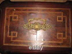 Grand Casket Jewelry Mahogany Nineteenth