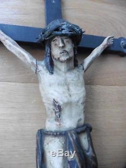 Grand Crucifix Christ Popular Art Valley Of Thônes Haute Savoie Beginning Xixth