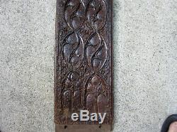 Grand Gothic Panel. High Era, Carved Wood Paneling, Decorative Element