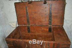Grand Old Trunk In Wood And Metal