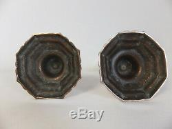 Great Candlesticks Pair Of Bronze Period Louis Xiv, XVII End Debut XVIII ° °