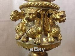 Great Chandelier Pique Candle Bronze Golden Candleholder