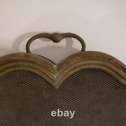 Grille Fire Protection Accessory Copper Fireplace Bronze Art Deco N3959