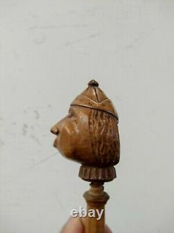 Hazelnuts Wood Carved Folk Art Antique Nutcracker